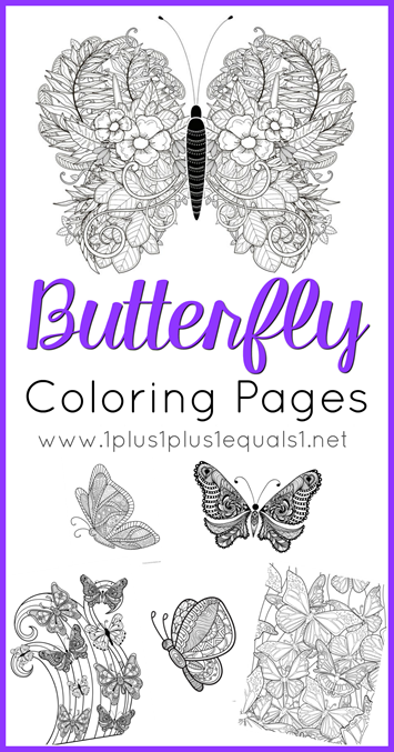 Butterfly Coloring Pages - 1+1+1=1