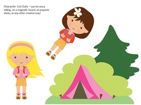 Camping Theme Preschool Printables (1)