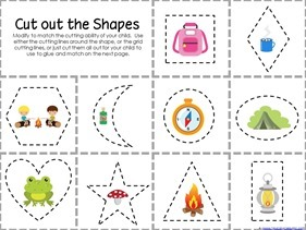 Camping Theme Preschool Printables  (2)