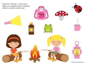 Camping Theme Preschool Printables (25)