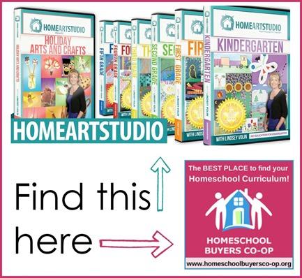 Home Art Studio on Homeschool Buyres Co-op FB