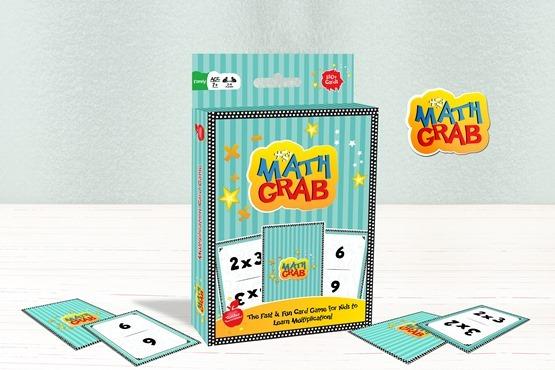 Math Grab Multiplication Card Game