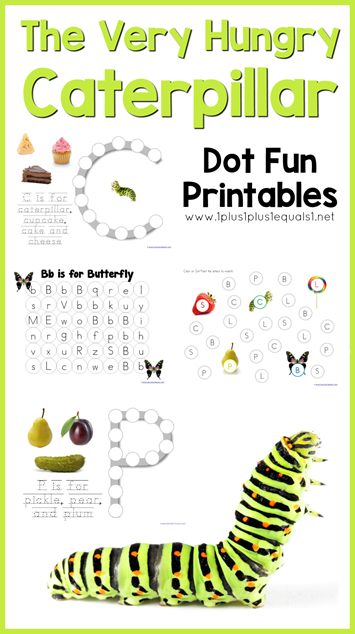 The Very Hungry Caterpillar Dot Fun Printables