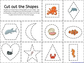 Ocean Animals Preschool Printables (2)