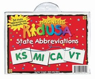 State Abbreviation Magnets