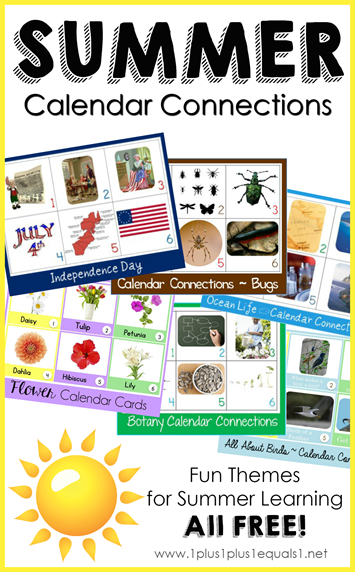 Summer Theme Calendar Connections