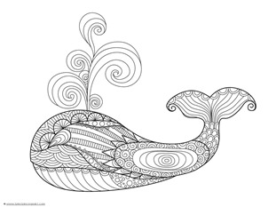 Dolphin and Whale Coloring Pages (10)