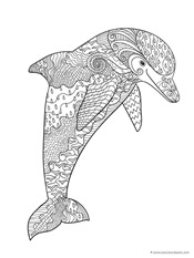 Dolphins And Whales Coloring Pages 1 1 1 1