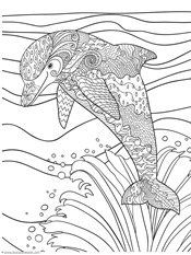 Dolphin and Whale Coloring Pages (4)
