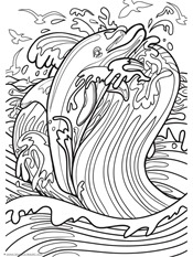 Dolphin and Whale Coloring Pages (6)