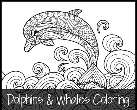 Dolphins and Whales Coloring Pages fb