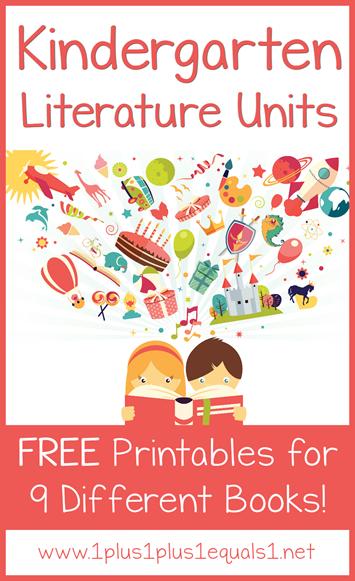 Kindergarten Literature Units