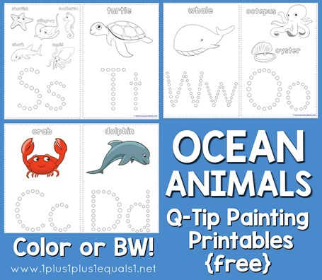 Ocean Animals Q-Tip Painting