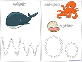 Ocean Animals Q-Tip Painting Printables (1)
