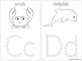 Ocean Animals Q-Tip Painting Printables (2)