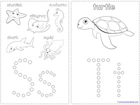 Ocean Animals Q-Tip Painting Printables (4)
