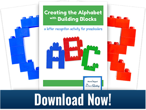 Printable Block Building ABC Patterns
