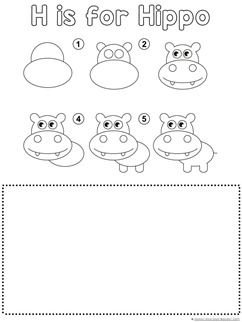 Hippo Drawing Tutorial