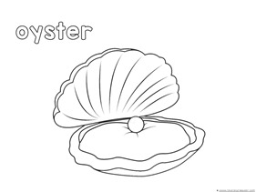 Oyster Coloring Page