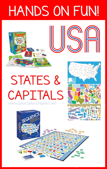 Hands on USA States and Capitals Fun