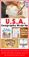 USA Homeschool Geography with Elementary Students