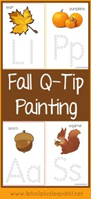 Fall Q-Tip Painting Printables