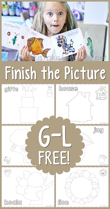 Finish the Picture G, H, I, J, K, L
