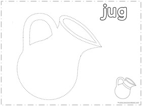 Trace and Draw a JUG