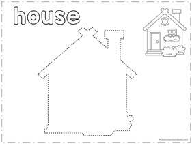 Trace and Draw a HOUSE