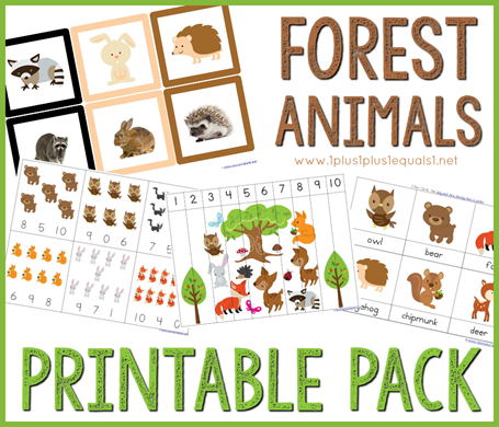 Forest Animals Preschool Pack