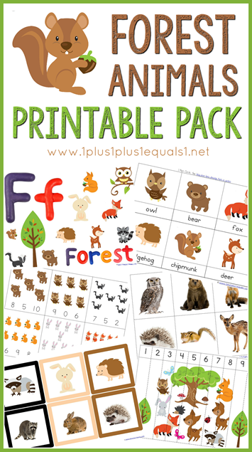 Forest Animals Printable Pack