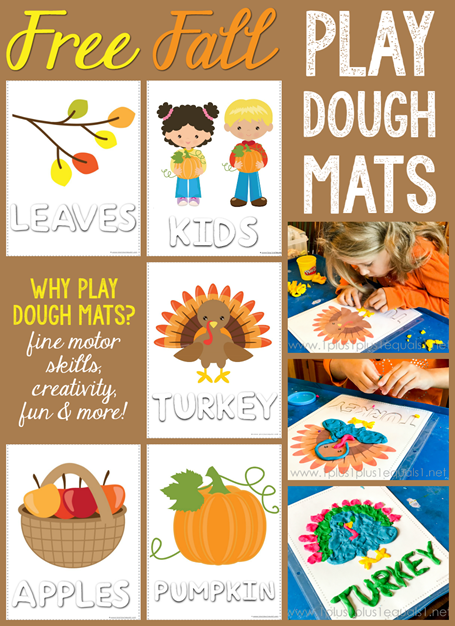 Fall Play Dough Mats