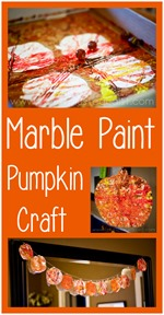 Marble Paint Pumpkin Craft