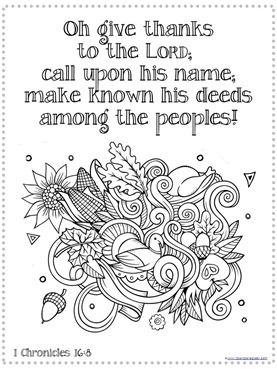 Thanksgiving Bible Verse Coloring 2