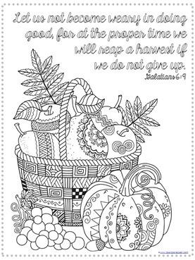 Thanksgiving Bible Verse Coloring 4