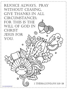 Thanksgiving Bible Verse Coloring Pages - 1+1+1=1