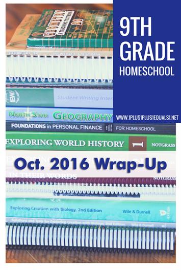 9th Grade Oct. 2016 Wrap Up