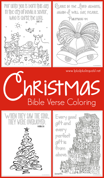 Christmas Bible Verse Coloring