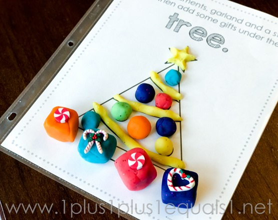 Christmas Play Dough Mats -0684
