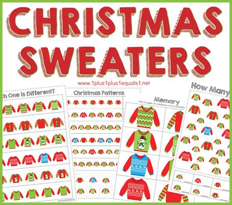 Christmas Sweaters Printables