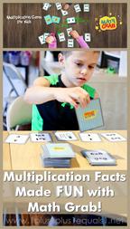 Math Grab Multiplication Card Game for Kids