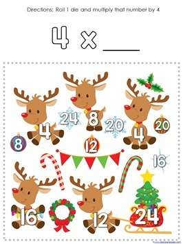 Multiplication Roll and Cover Christmas (3)