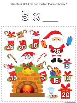 Multiplication Roll and Cover Christmas (4)