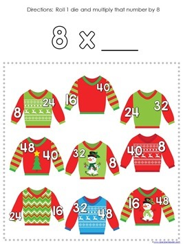 Multiplication Roll and Cover Christmas (7)