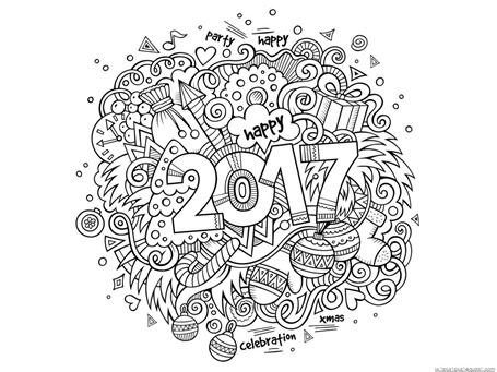 New Year Coloring Pages (2)