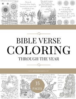 Bible Verse Coloring Through the Year