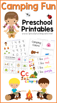 Camping Fun Preschool Printables