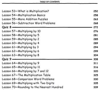 TT3 TOC Multiplication Lessons