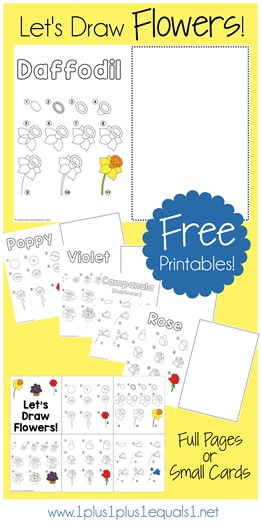 Let's Draw Flowers - Free Printables