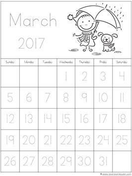 2017 Calendar for Kids